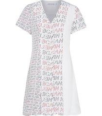#logo print blocked korte jurk wit calvin klein jeans