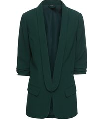 blazer lungo con maniche drappeggiate (verde) - bodyflirt