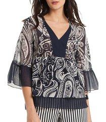ayden paisley silk-blend blouse