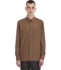 ermenegildo zegna shirt in brown cotton
