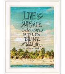 """trendy decor 4u live in the sunshine by misty michelle, ready to hang framed print, white frame, 15"""" x 19"""""""