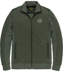 pme legend psw205406 6026 zip jacket structure sweat green
