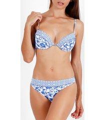 bikini admas 2-delig push-up bikinisetje etienne blauw