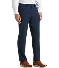 perry ellis premium slim fit tech dress pants navy