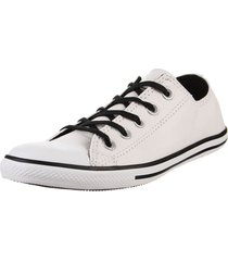 zapatilla  blanca converse  ct as slim ox white