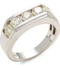effy men's 14k white gold & diamond ring - size 10