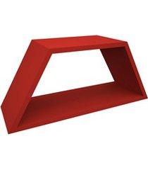 nicho em madeira half 54x25cm vermelho