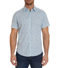 robert graham men's classic-fit printed shirt - size s