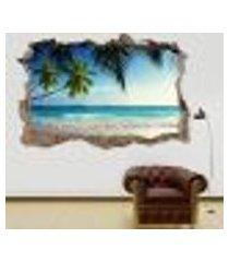 adesivo buraco na parede praia - es 93x144cm