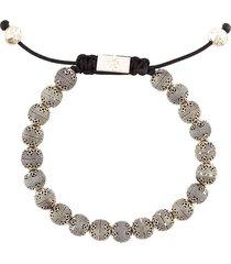 nialaya jewelry cairo beaded bracelet - grey