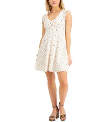 bar iii printed fit & flare dress, created for macy's