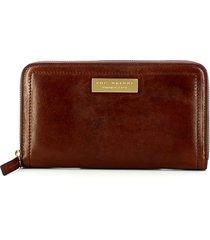 the bridge brown beatrice zip-around wallet