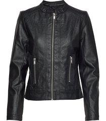acom jacket - läderjacka skinnjacka svart b.young