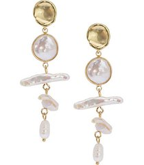 12-13mm baroque freshwater pearl drop earrings