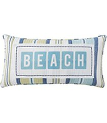 "bayport 12"" x 24"" beach stripe decorative pillow"