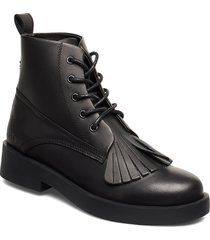 469g black full grain leather shoes boots ankle boots ankle boots flat heel svart gram