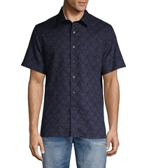 floral-print short-sleeve shirt