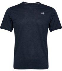 impact run ss t-shirts short-sleeved blå new balance