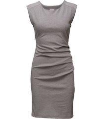 india round-neck dress knälång klänning grå kaffe