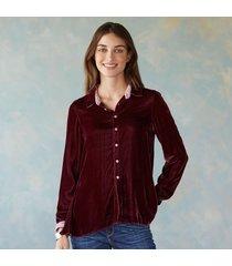 cp shades velvet blouse