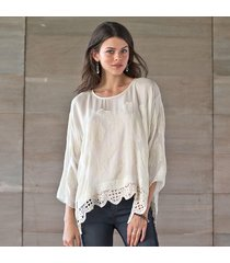 embroidered moonlight top