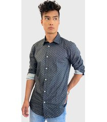 camisa only & sons hogan stretch negro - calce stretch