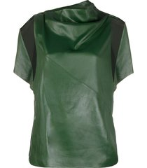 3.1 phillip lim side snap cape top - green
