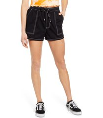 women's dickies contrast stitch pull on shorts