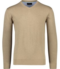 portofino pullover katoen v-hals beige