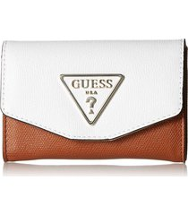 billetera maddy slg double date vg729139 para mujer guess - blanco