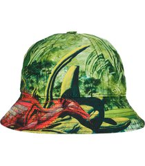 green and red dragon bucket hat