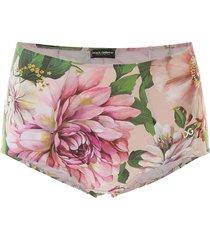 floral print culotte bikini bottom