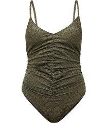 v-neckline ruched swimsuit