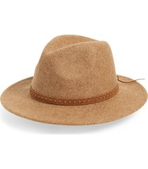 women's treasure & bond wool felt panama hat - brown