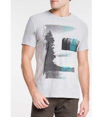 camiseta masculina paisagem cinza calvin klein jeans - pp