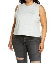 plus size women's bp. earth day muscle tank, size 3x - grey
