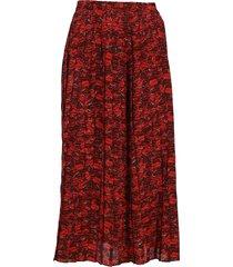 valentino lips print silk skirt