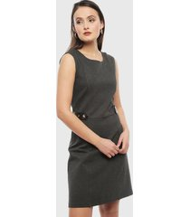 vestido ash gris - calce regular