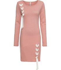 abito in maglia con fiocchi (rosa) - bodyflirt boutique