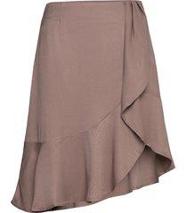 frigg ruffle skirt knälång kjol beige designers, remix