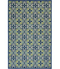 "kaleen a breath of fresh air fsr104-17 blue 8'8"" x 12' area rug"