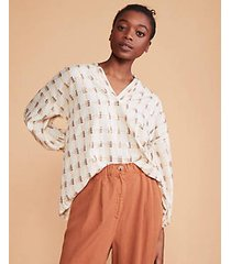 lou & grey golden hour poet blouse