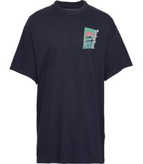 ss beach graphic t t-shirts short-sleeved blå timberland