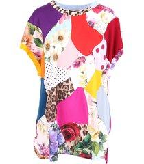 dolce & gabbana patchwork cotton t-shirt