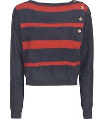 mes demoiselles stripe cropped sweater