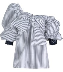 aosta striped blouse