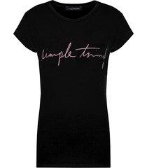 simple things top zwart roze