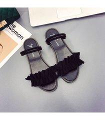 moda zapatillas casuales de verano para las mujeres sandalias planas zapatillas