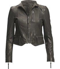 rucy leather jacket läderjacka skinnjacka svart mdk / munderingskompagniet