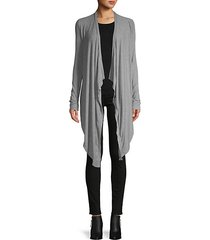 open-front draped cardigan